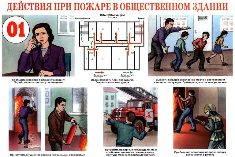 действия при пожарах